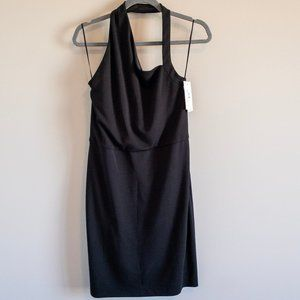 H by Halston Black Halter Fitted Dress